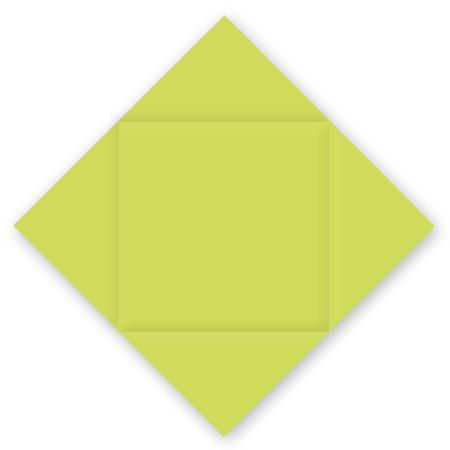 Pollen - 25 cartes carrées à rainage losange 16 x 16 cm - Vert bourgeon