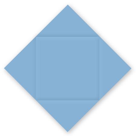 Pollen - 25 cartes carrées à rainage losange 16 x 16 cm - Bleu lavande