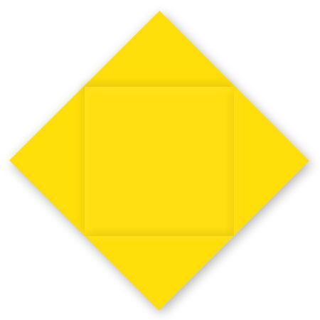 Pollen - 25 cartes carrées à rainage losange 16 x 16 cm - Jaune soleil