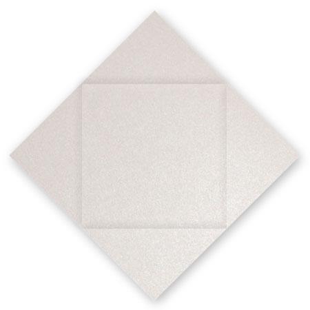 Pollen - 25 cartes carrées à rainage losange 16 x 16 cm - Blanc irisé