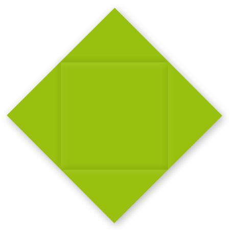 Pollen - 25 cartes carrées à rainage losange 16 x 16 cm - Vert menthe