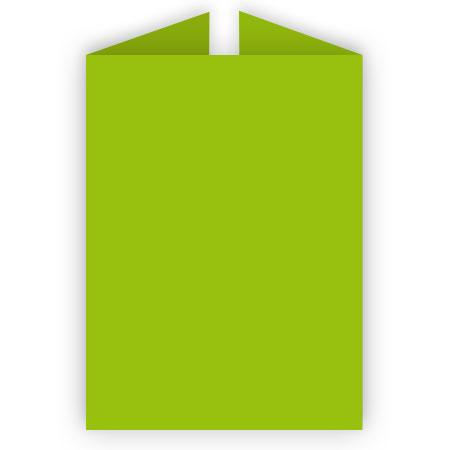 Pollen - 25 cartes rectangulaires triptyques 11 x 15.5 cm - Vert menthe