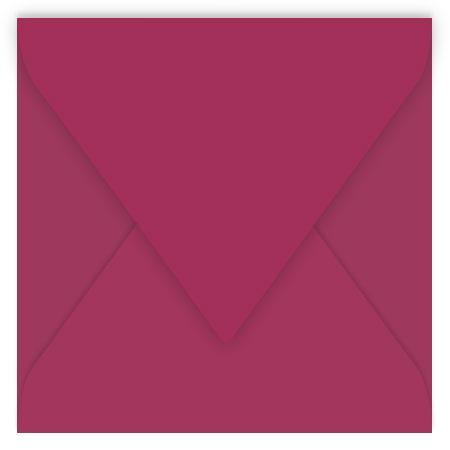 Pollen - 20 enveloppes carrées 12 x 12 cm - Framboise