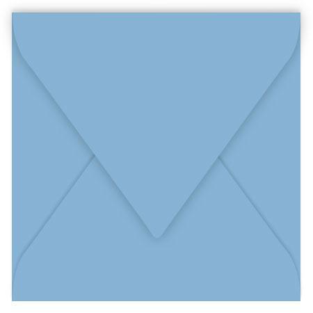 Pollen - 20 enveloppes carrées 12 x 12 cm - Bleu lavande