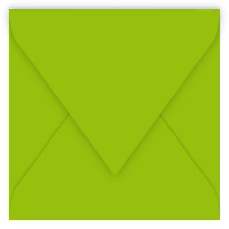 Pollen - 20 enveloppes carrées 12 x 12 cm - Vert menthe