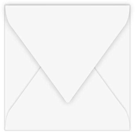 Pollen - 20 enveloppes carrées 12 x 12 cm - Blanc