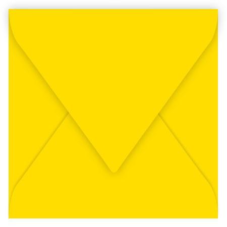 Pollen - 20 enveloppes carrées 12 x 12 cm - Jaune soleil