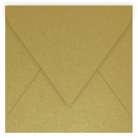 Pollen - 20 enveloppes carrées 16.5 x 16.5 cm - Or
