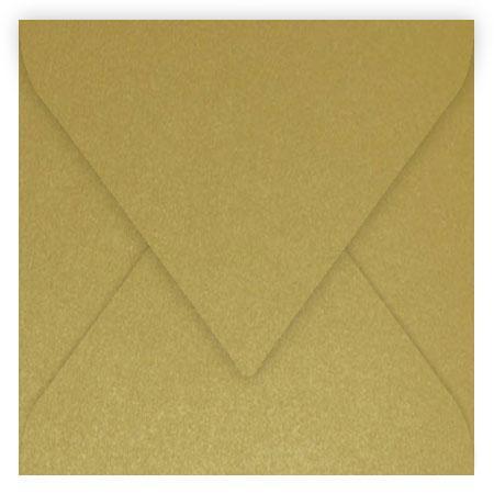 Pollen - 20 enveloppes carrées 14 x 14 cm - Or