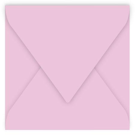 Pollen - 20 enveloppes carrées 16.5 x 16.5 cm - Rose dragée