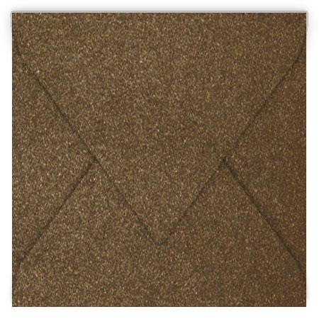 Pollen - 20 enveloppes carrées 14 x 14 cm - Bronze irisé