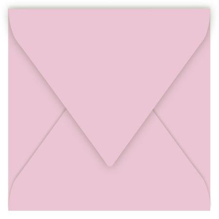 Pollen - 20 enveloppes carrées 14 x 14 cm - Rose dragée