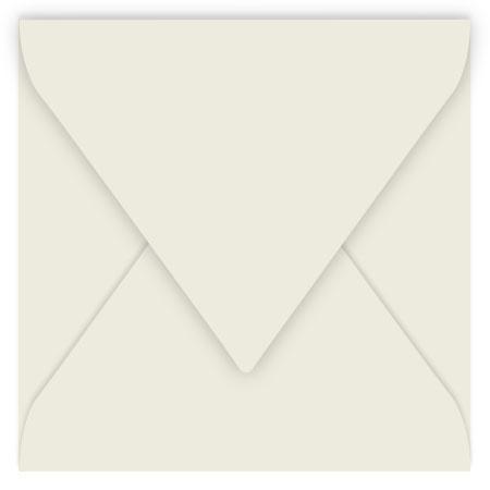 Pollen - 20 enveloppes carrées 14 x 14 cm - Gris perle