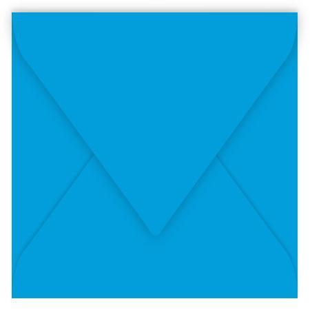 Pollen - 20 enveloppes carrées 16.5 x 16.5 cm - Bleu turquoise