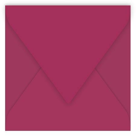 Pollen - 20 enveloppes carrées 16.5 x 16.5 cm - Framboise