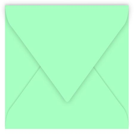 Pollen - 20 enveloppes carrées 12 x 12 cm - Vert jade