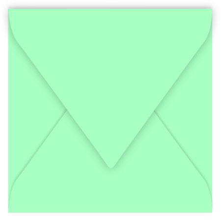 Pollen - 20 enveloppes carrées 14 x 14 cm - Vert jade