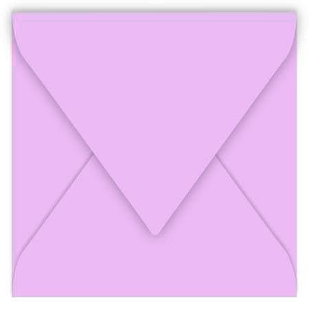 Pollen - 20 enveloppes carrées 12 x 12 cm - Rose dragée