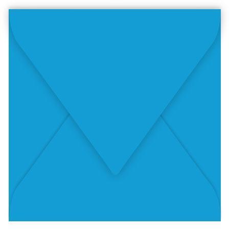 Pollen - 20 enveloppes carrées 14 x 14 cm - Bleu turquoise