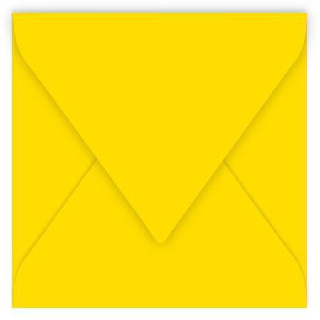 Pollen - 20 enveloppes carrées 14 x 14 cm - Jaune soleil