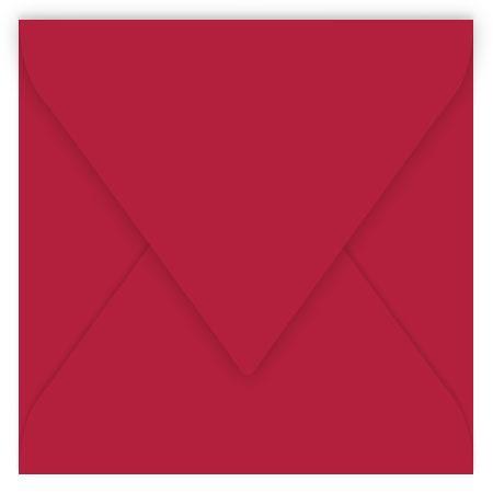 Pollen - 20 enveloppes carrées 14 x 14 cm - Rouge groseille