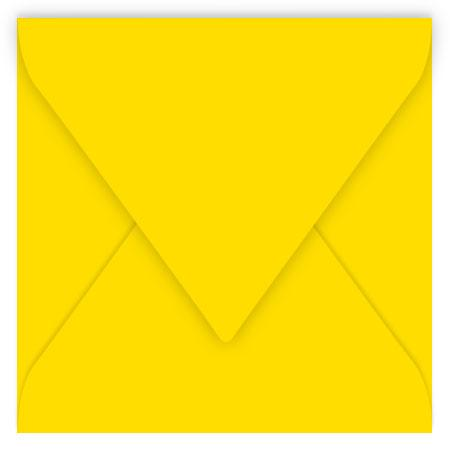 Pollen - 20 enveloppes carrées 16.5 x 16.5 cm - Jaune soleil