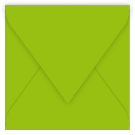 Pollen - 20 enveloppes carrées 14 x 14 cm - Vert menthe