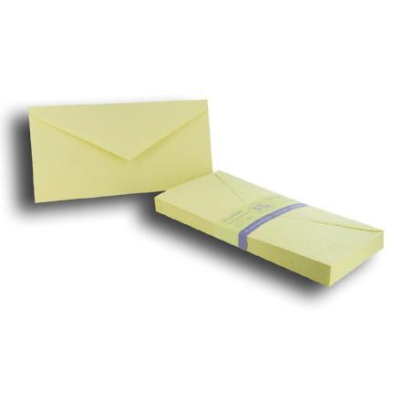 Vergé de France - 25 enveloppes doublées 11 x 22 cm - ivoire