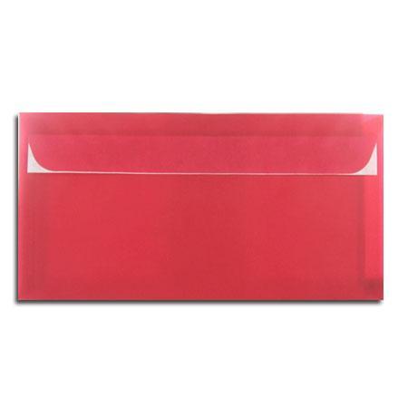 Perga pastell - 5 enveloppes 11.4 x 22.3 cm - rouge cerise