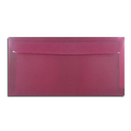 Perga pastell - 5 enveloppes 11.4 x 22.3 cm - bordeaux