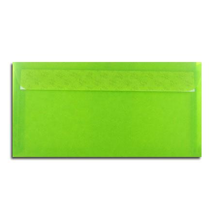 Perga pastell - 5 enveloppes 11.4 x 22.3 cm - limon