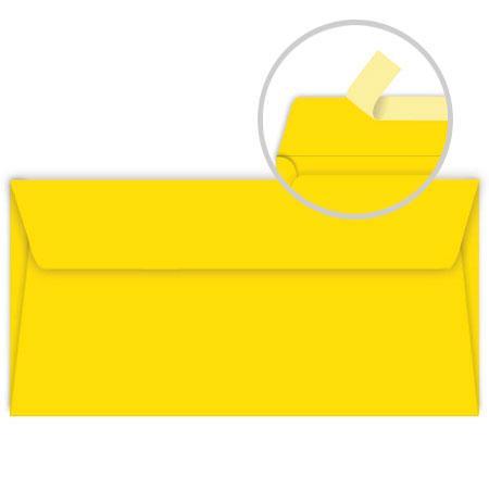 Pollen - 20 enveloppes rectangulaires 9 x 14 cm - Jaune soleil