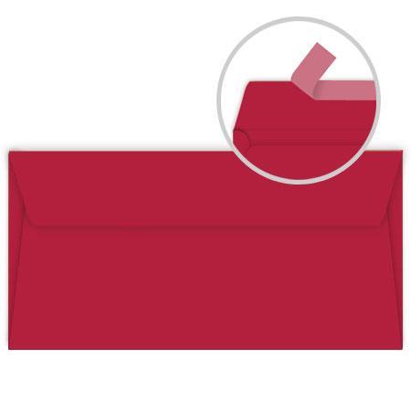 Pollen - 20 enveloppes rectangulaires 9 x 14 cm - Rouge groseille