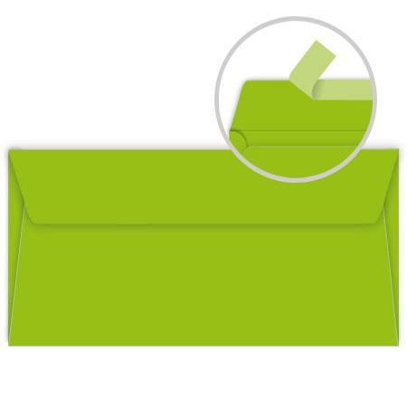 Pollen - 20 enveloppes rectangulaires 9 x 14 cm - Vert menthe