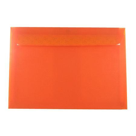 Perga pastell - 5 enveloppes 16.2 x 22.9 cm - mandarine