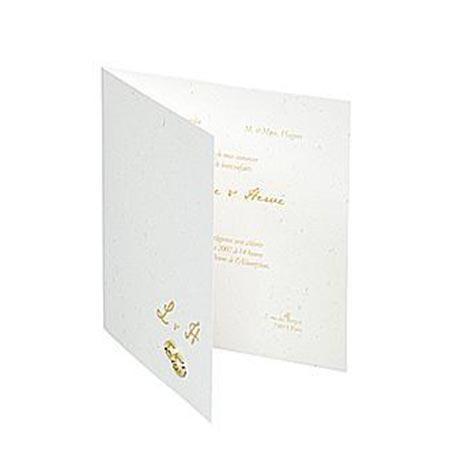 Eclat d'Or - 20 enveloppes doublées - blanc