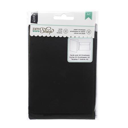 DIY Shop - A2 Cards & Envelopes - Chalkboard - 12 cards/12 envelopes