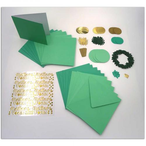 Kit carterie Bombay Or et Vert