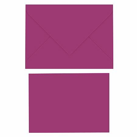 Pollen - Assortiment de 5 petites enveloppes et 5 petites cartes rectangulaires - Cassis