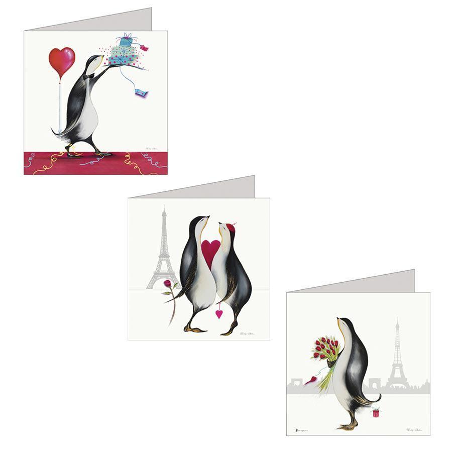 Pengwins - Les Amoureux de Paris - Set de correspondance