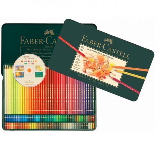 Boîte en métal de 120 crayons de couleur Polychromos