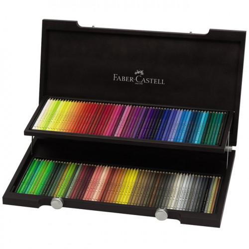 Coffret en bois de 120 crayons de couleur Polychromos