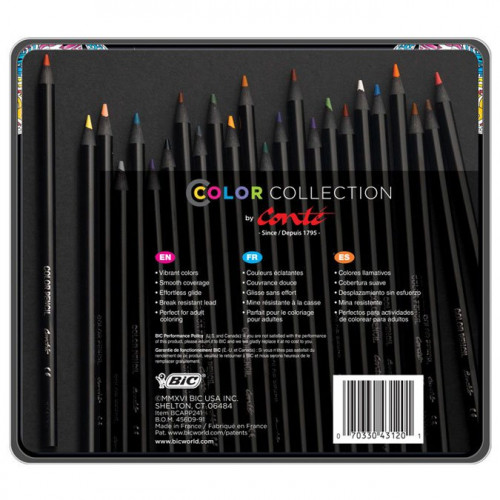 24 Crayons de couleur Color Collection