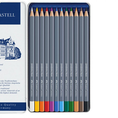 12 crayons de couleur aquarellable Goldfaber Aqua
