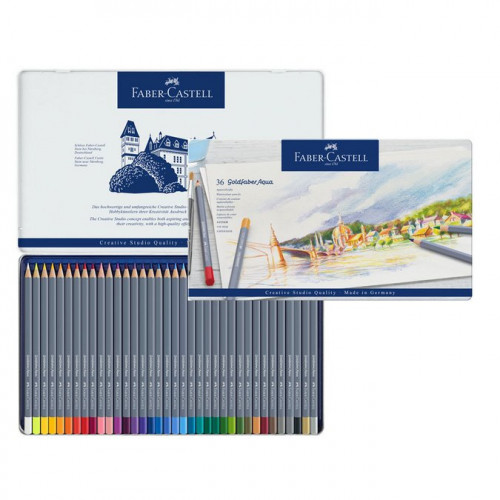 36 crayons de couleur aquarellables GoldFaber Aqua