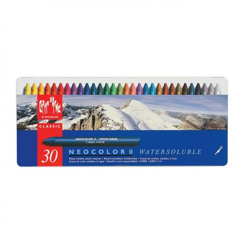 Boîte métal de 30 Pastels Neocolor II - aquarellable