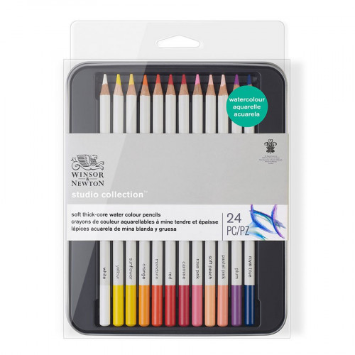 Set de 24 crayons de couleur aquarellables Studio