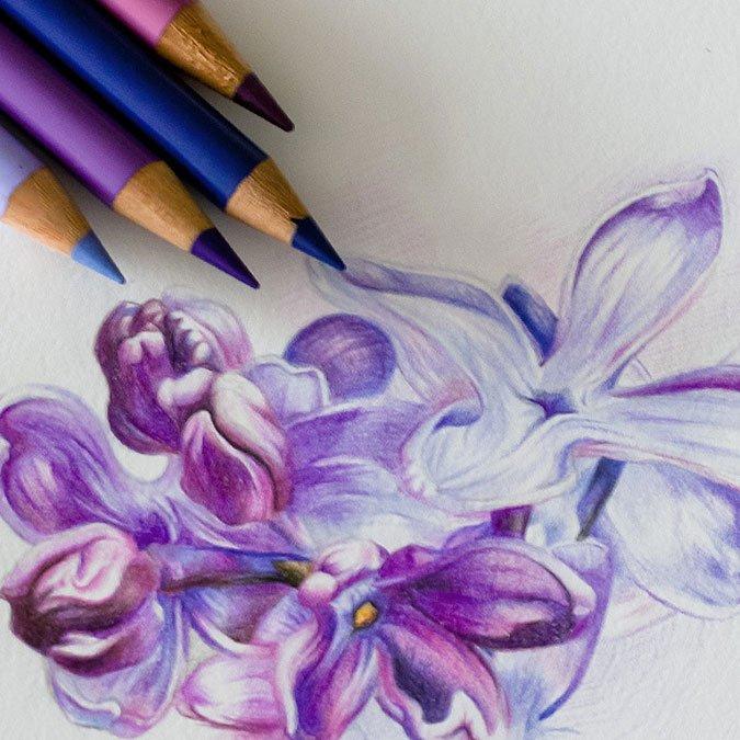 Coffret en bois de 72 crayons de couleur Polychromos
