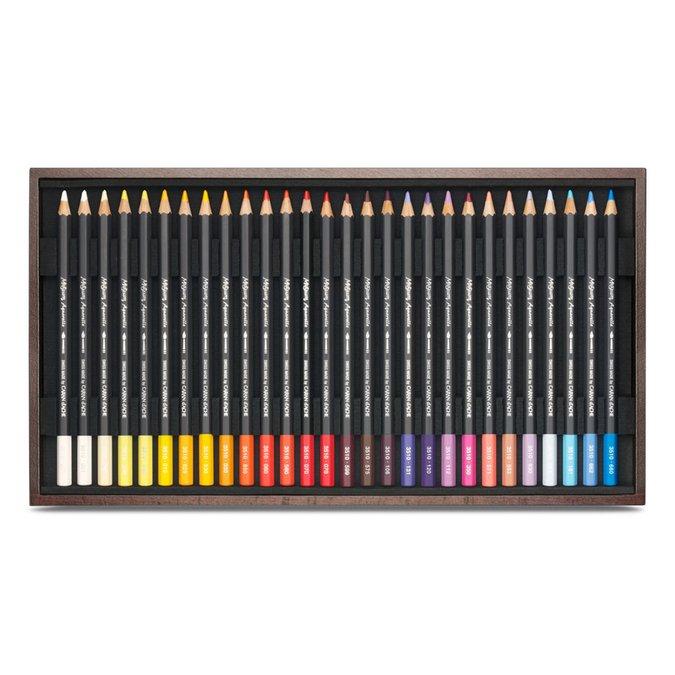 Coffret cadeau en bois de 80 crayons MUSEUM Aquarelle