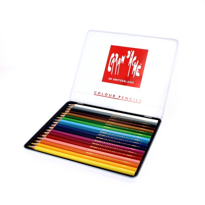 Crayons de couleur aquarellables Swisscolor - 18 pcs